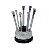 Horotec 01.100 Rotating Stand with 9 Screwdrivers