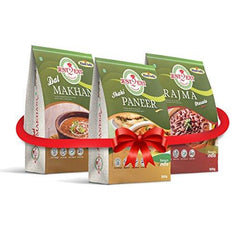 Just2Eat Combo : Shahi Paneer, Rajma Masala & Dal Makhani [Pack of 3] [850 gm] - Just2Eat
