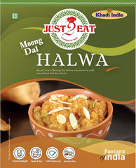 "Moong Dal Halwa Dessert - ""Moong Dal Simmered in milk and garnished with dry fruits"" - Just2Eat"