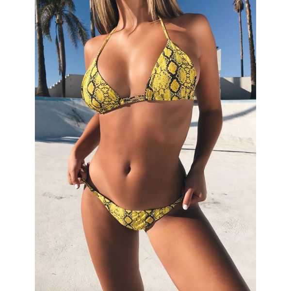 Lena Bikini - Green, Yellow & Red - MÏA Brand
