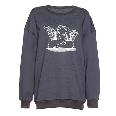 Angela Oversized Gray Sweatshirt - MÏA Brand