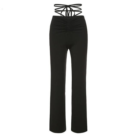 Kat String Black Pants - MÏA Brand