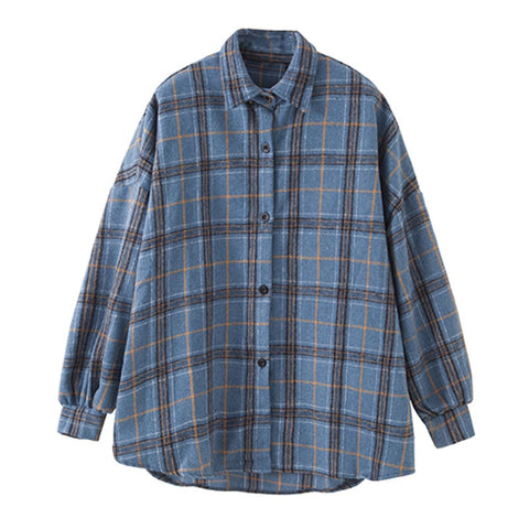 Poppy Plaid Shirt - Blue & Brown - MÏA Brand