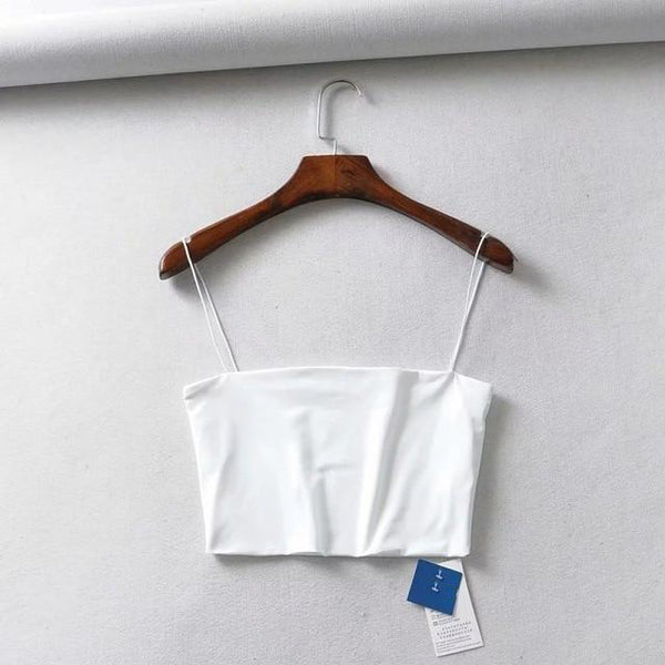 Audrey Crop Top - Beige, Black, White & Brown - MÏA Brand