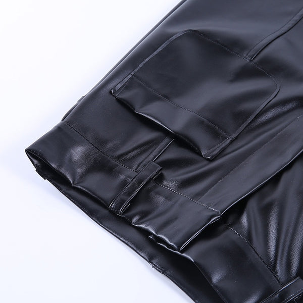 Brenda Leather Pants - Black & Brown - MÏA Brand