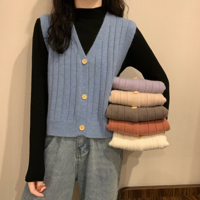 Matilda Sweater Vest - Blue, Orange, White, Beige, Brown & Purple - MÏA Brand