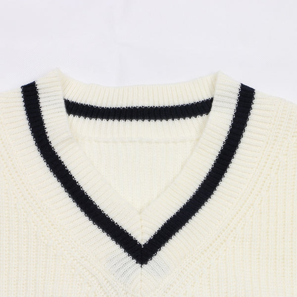 Isla Sweater - Navy Blue & Beige - MÏA Brand