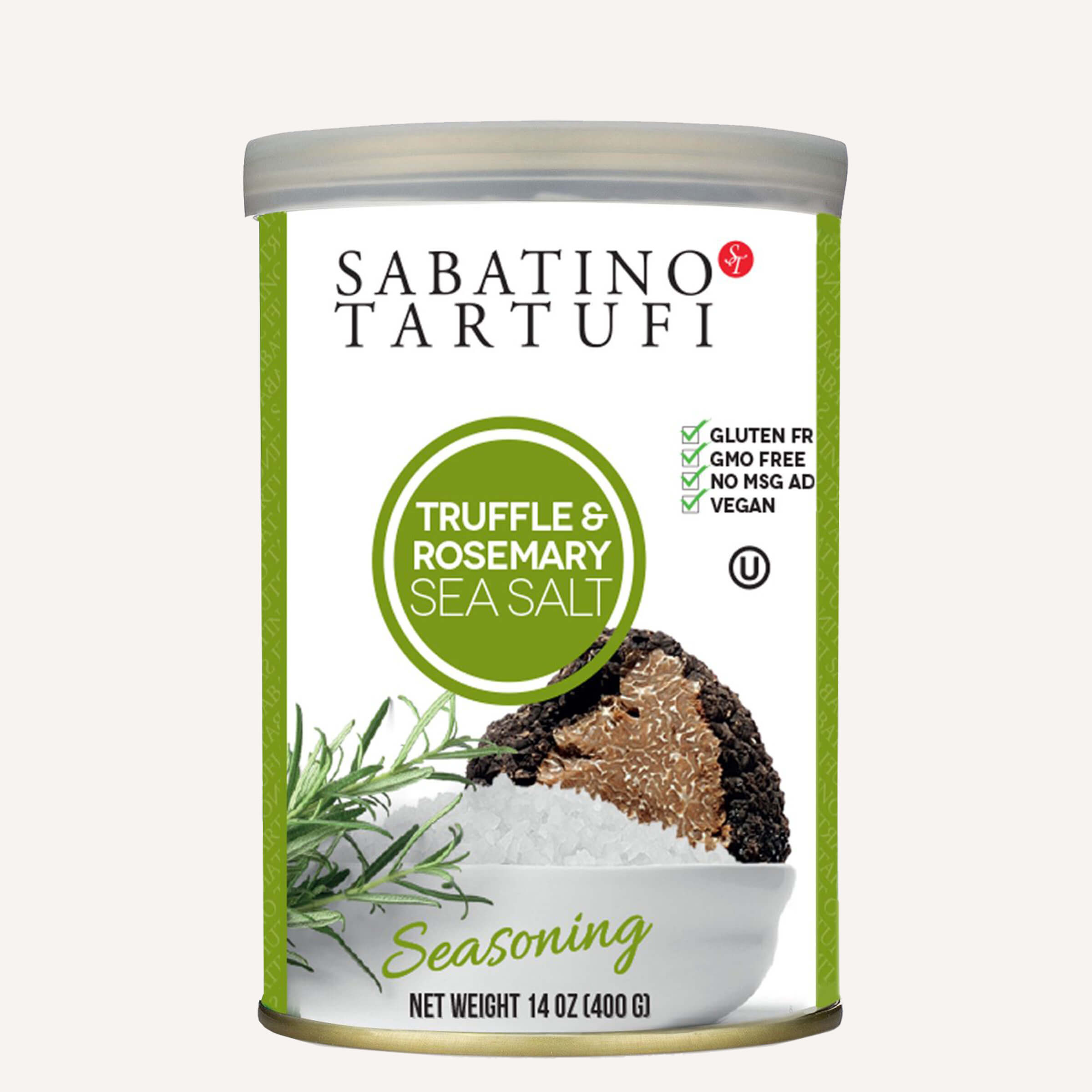 Truffle & Rosemary Sea Salt - 14 oz <br> Single Unit