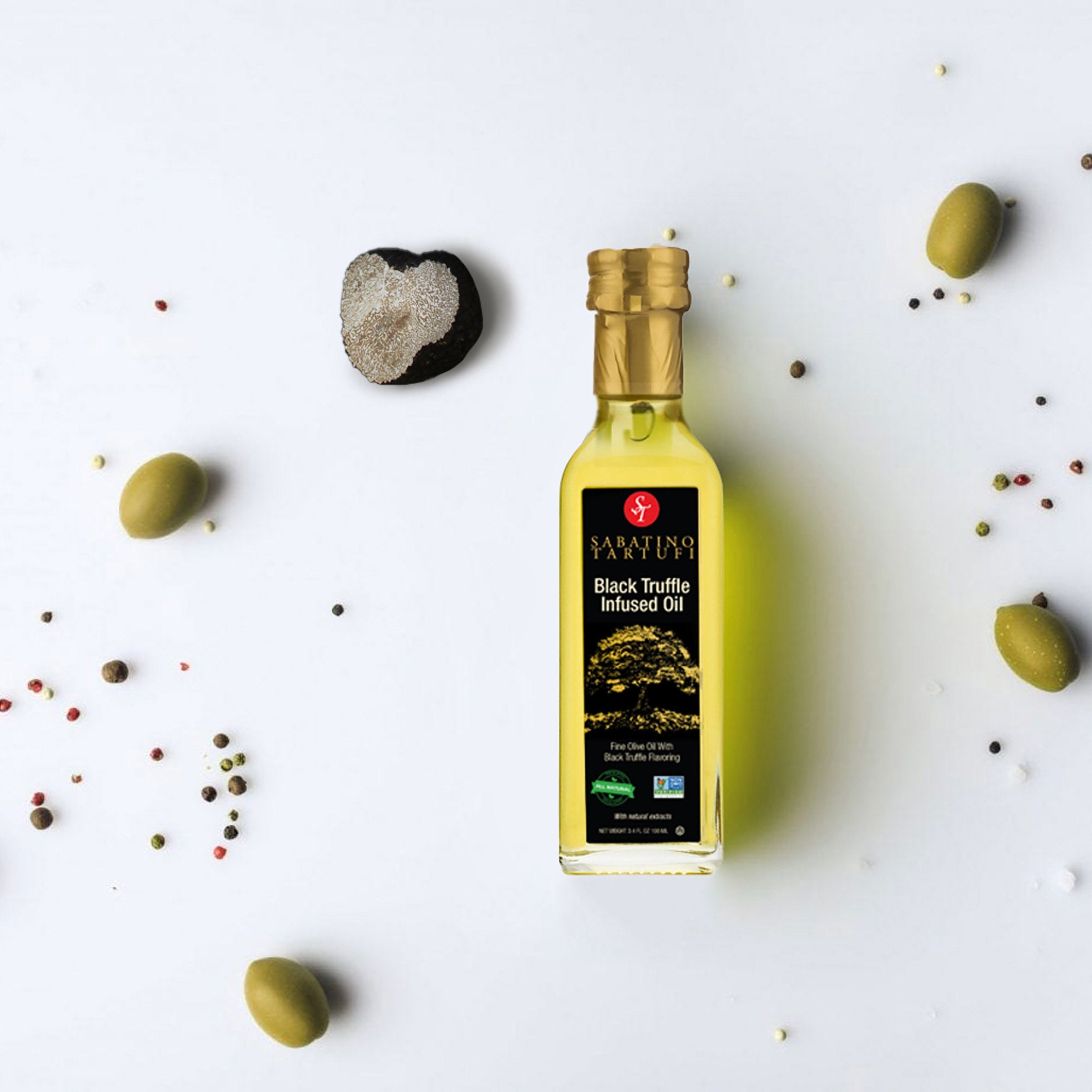 Black Truffle Infused Olive Oil - 3.4 fl oz <br> Case Pack 6 Units