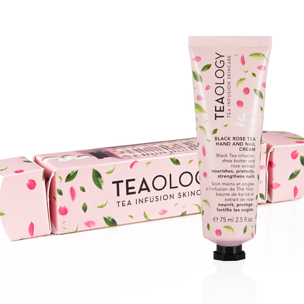 Black Rose Tea Hand And Nail Cream | confezione regalo - Teaology Skincare