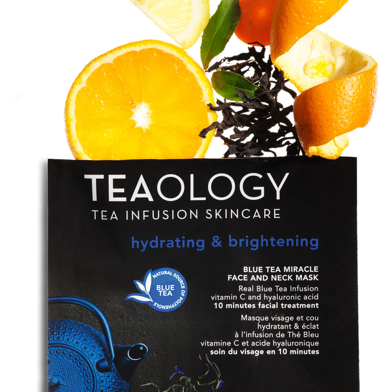 Blue Tea Miracle Face and Neck Mask | Hydrating & Brightening - Teaology Skincare