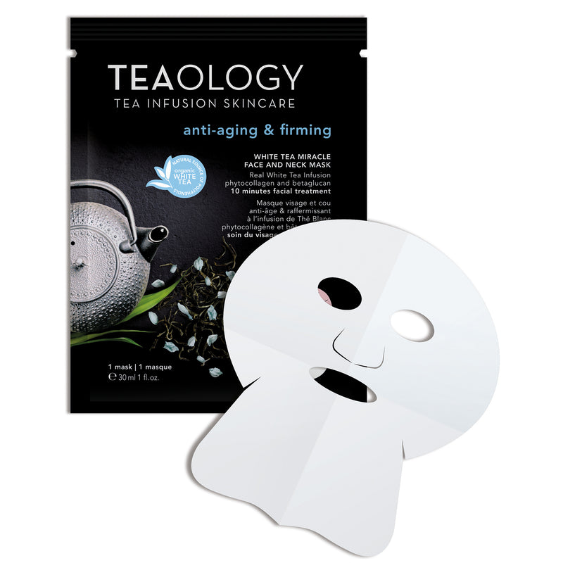 White Tea Miracle Face and Neck Mask | Anti-Aging & Firming - Teaology Skincare
