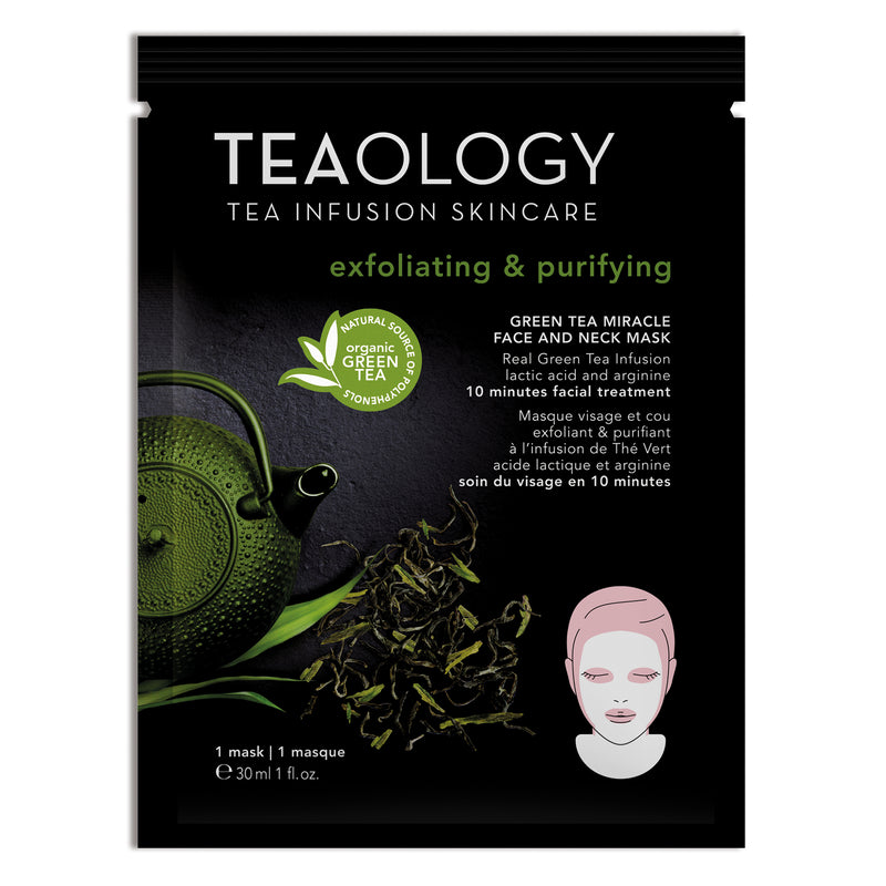 Green Tea Miracle Face and Neck Mask | Exfoliating & Purifying - Teaology Skincare