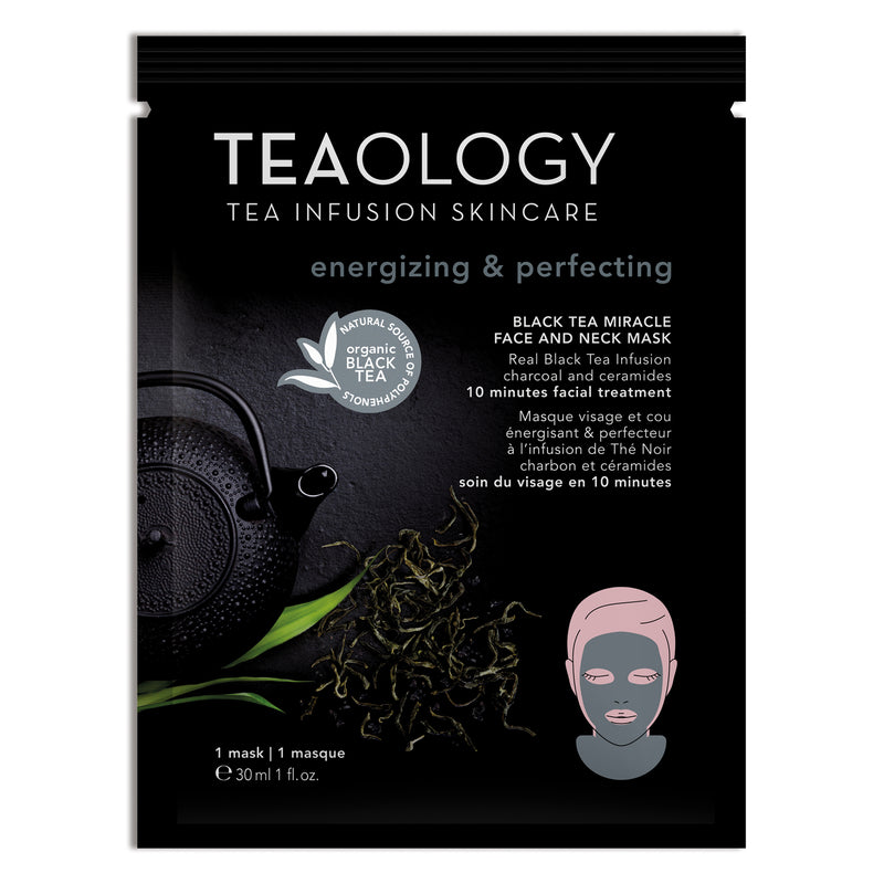 Black Tea Miracle Face and Neck Mask | Energizing & Perfecting - Teaology Skincare