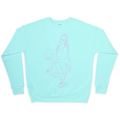 Satou Sabally Mint Pose Crewneck Sweatshirt