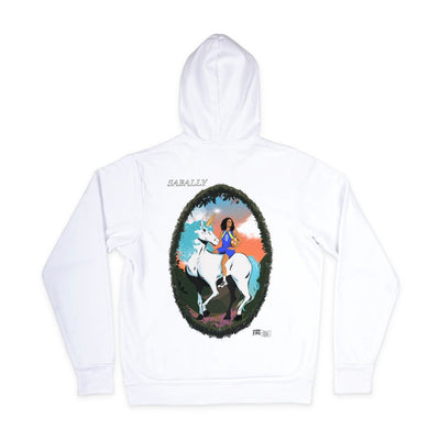 Satou Sabally White Masterpiece Hoodie - Back