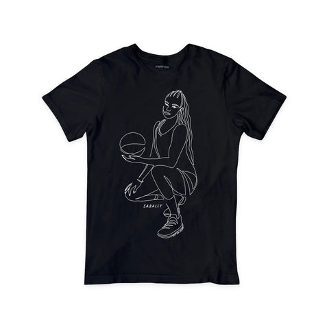 Satou Sabally Black Pose Tee