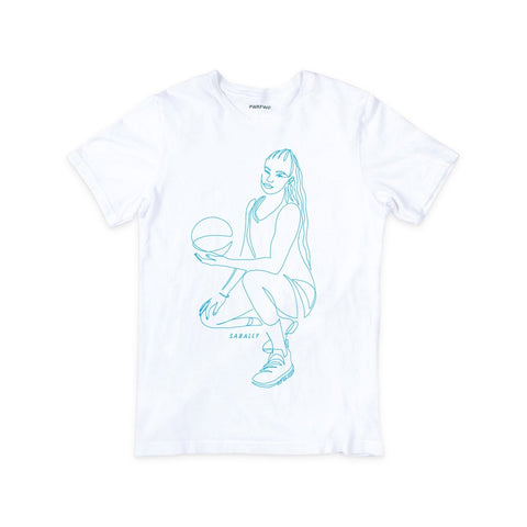 Satou Sabally White Pose Tee