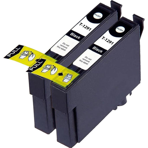 Compatible Epson 2 Black BX525WD Ink Cartridges (T1291)