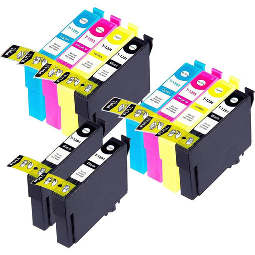 Compatible Epson 2 Sets + 2 Black BX525WD Ink Cartridges (T1295)
