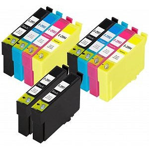Compatible Epson 29XL T2996 Ink Cartridge - Pack of 10 - 2 Sets & 2 Black