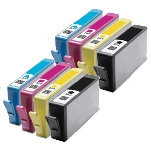 Compatible HP 364XL High Capacity Multipack - Black / Cyan / Magenta / Yellow - Pack of 8 - 2 Set