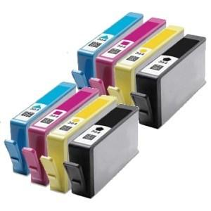 Compatible HP 2 Sets of Photosmart 7510 ink cartridges (364XL)