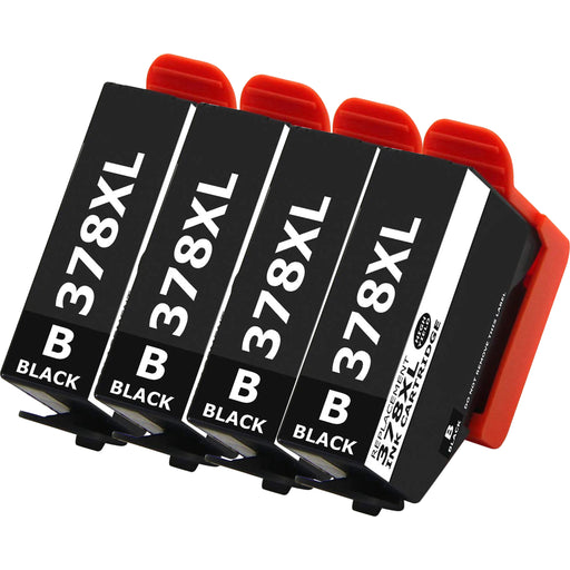 Compatible Epson 378XL Black Ink Cartridge Pack of 4