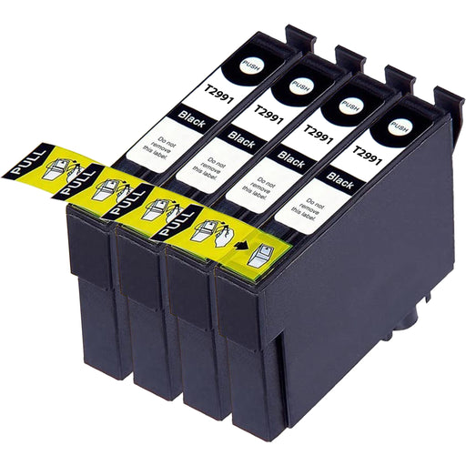 Compatible Epson 29XL Black T2991 Ink Cartridges Pack of 4