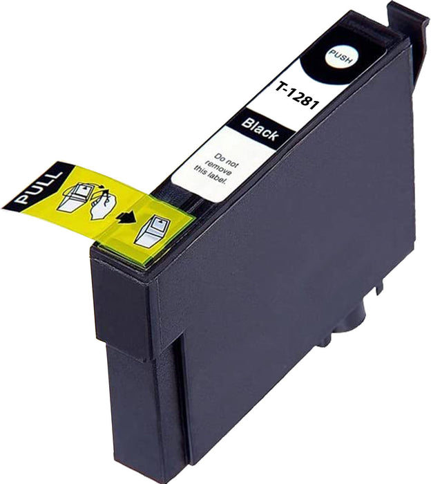 Compatible Epson T1281 High Capacity Ink Cartridge - 1 Black