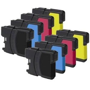 Compatible Brother 8 LC985 DCP-J140W Ink Cartridges