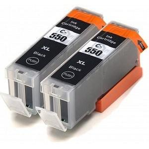 Compatible Canon 2 Black MG5550 Ink cartridges (PGI-550 XL)