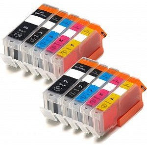 Compatible Canon PGI-570/CLI-571 XL - Black / Cyan / Magenta / Yellow / Black Large - Pack of 10 - 2 Sets