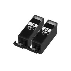 Compatible Canon 2 Black MG5350 Ink cartridges (PGI-525 XL)