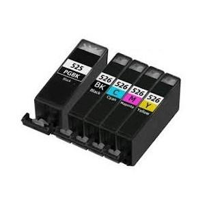 Compatible Canon 1 Set of 5 MG5350 Ink cartridges (PGI-525 / CLI-526 XL)