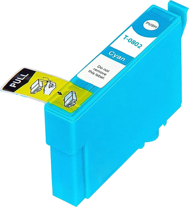 Compatible Epson Cyan RX680 Ink Cartridge (T0801)