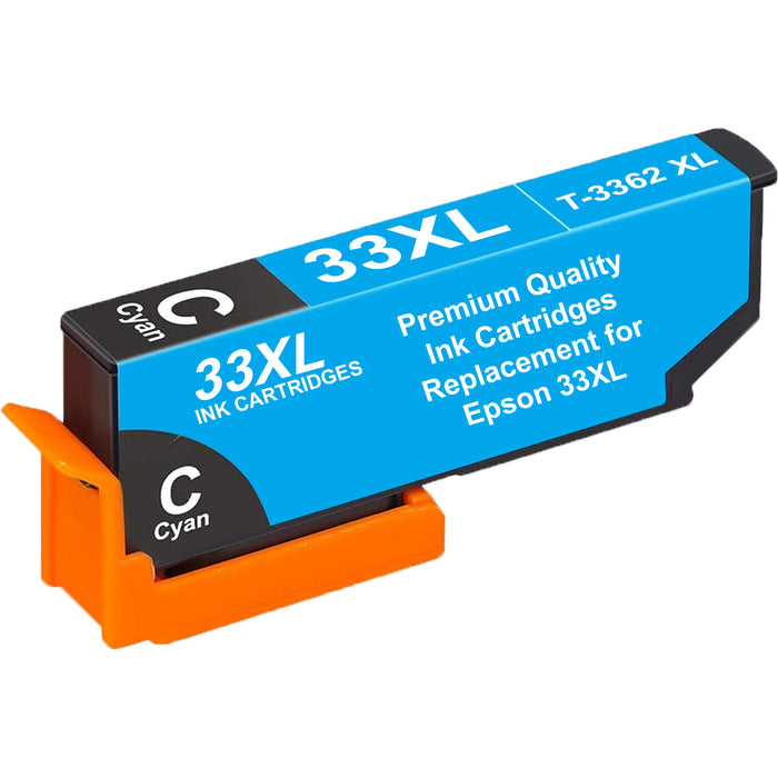 Compatible Epson 33XL T3362XL High Capacity Ink Cartridge - 1 Cyan