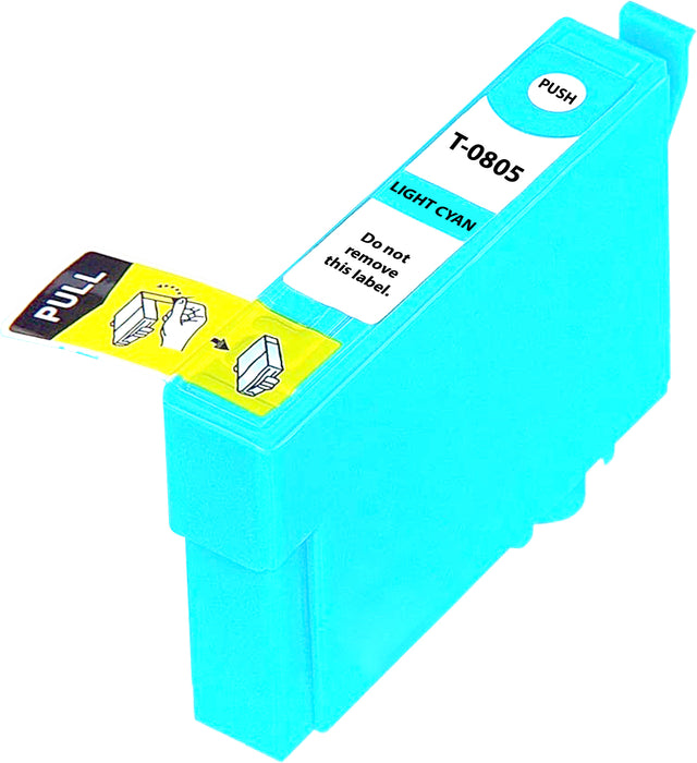 Compatible Epson T0805 High Capacity Ink Cartridge - 1 Light Cyan