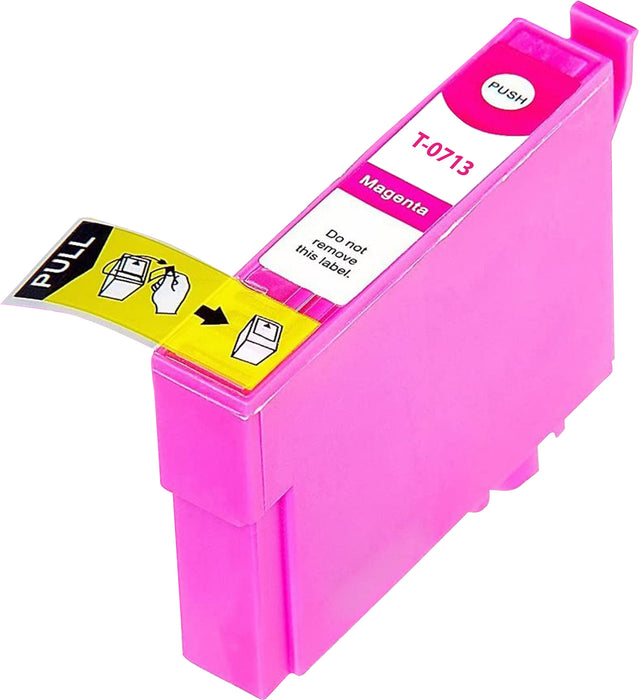 Compatible Epson T0713 High Capacity Ink Cartridge - 1 Magenta