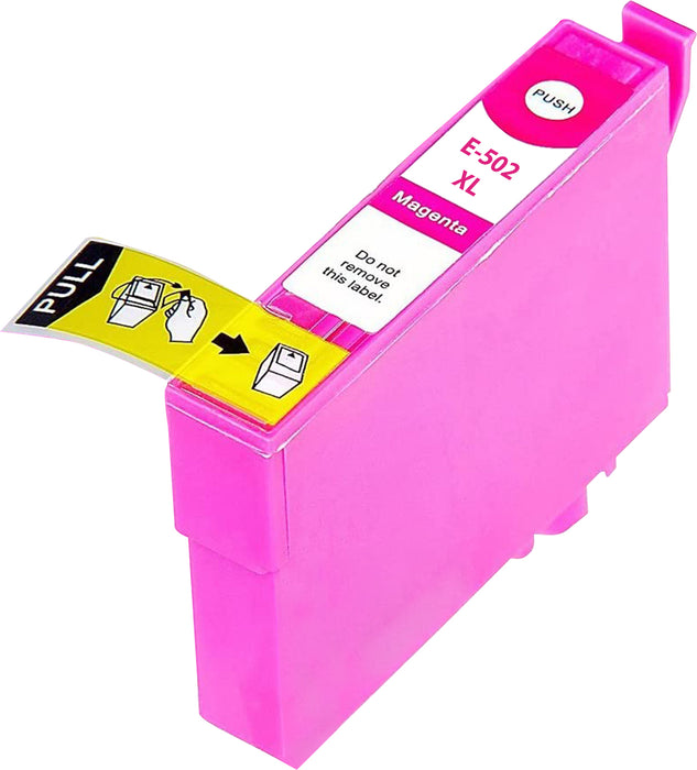 Compatible Epson 502XL High Capacity Ink Cartridge - 1 Magenta