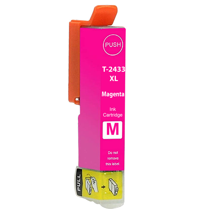 Compatible Epson 24XL T2433XL High Capacity Ink Cartridge - 1 Magenta