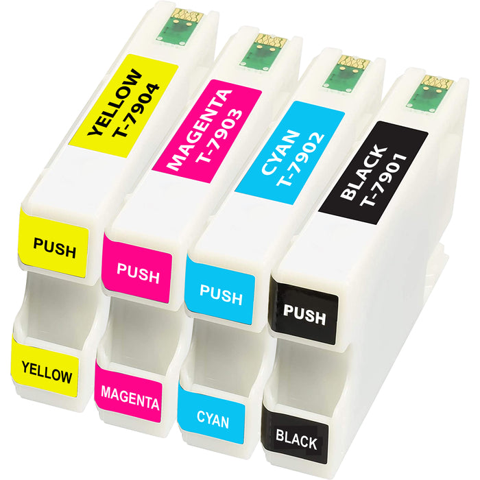 Compatible Epson 79XL (T7901-T7904) Multipack High Capacity Ink Cartridges Pack of 4 - 1 Set