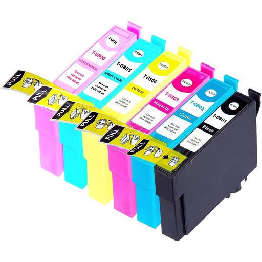 Compatible Epson 1 Set of 6 PX700W ink cartridges (T0807)