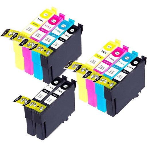 Compatible Epson 2 Sets + 2 Black XP-212 Ink Cartridges (18XL)
