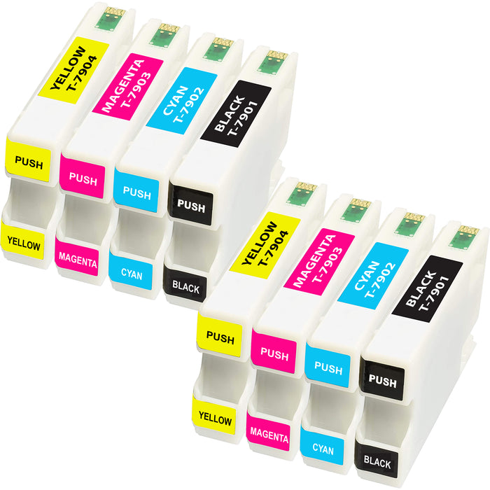 Compatible Epson 79XL (T7901-T7904) Ink Cartridge - Pack of 8 - 2 Set