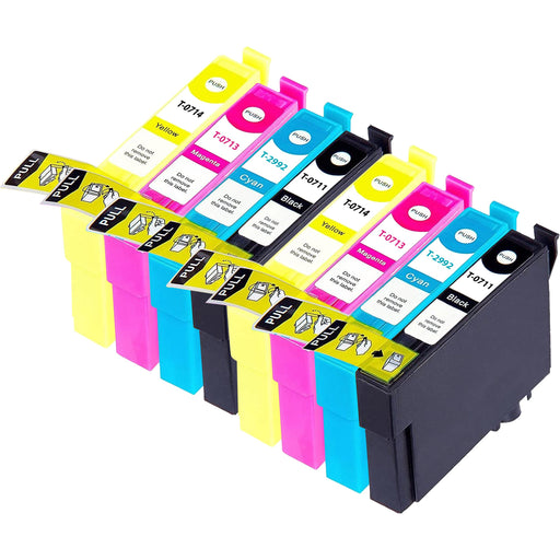 Compatible Epson 2 Sets of 4 BX610FW ink cartridges (T0715)