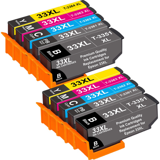Compatible Epson 2 Sets of XP-630 Ink Cartridges (33XL)