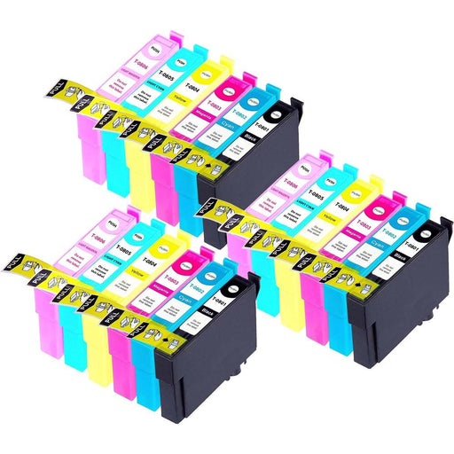 Compatible Epson 3 Sets of 6 PX830FWD ink cartridges (T0807)