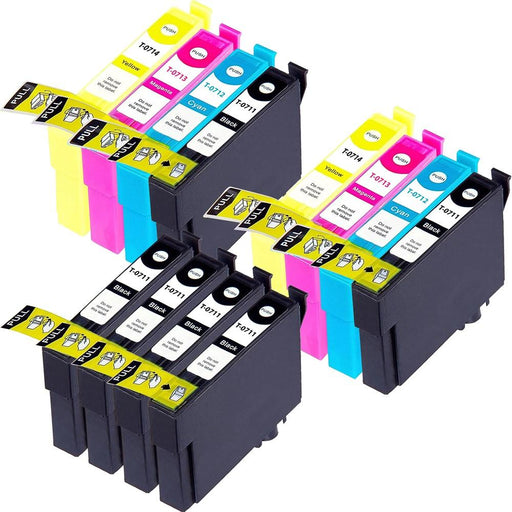 Compatible Epson 2 Sets and 4 black SX510W ink cartridges (T0715)