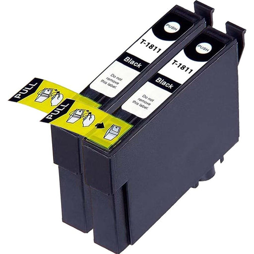 Compatible Epson 2 Black XP-202 Ink Cartridges (T1811 XL)